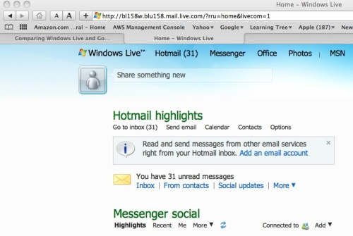 Windows Live Home Page
